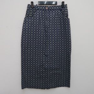 Talbots Women's Floral Pencil Straight Skirt Sz 12